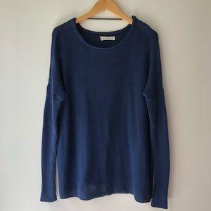 🌙Volcom Navy Blue Knit Sweater M 12